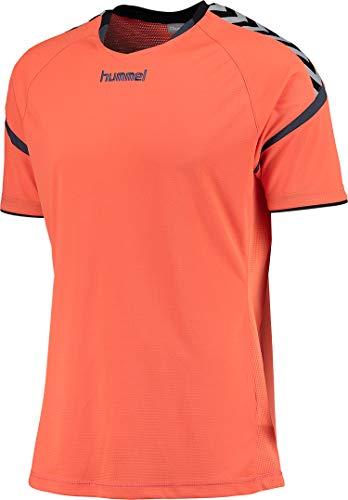 hummel Kinder Auth. Charge Short Sleeve Poly Jersey Trikot,orange(Nasturtium/Ombre Blue),164-176