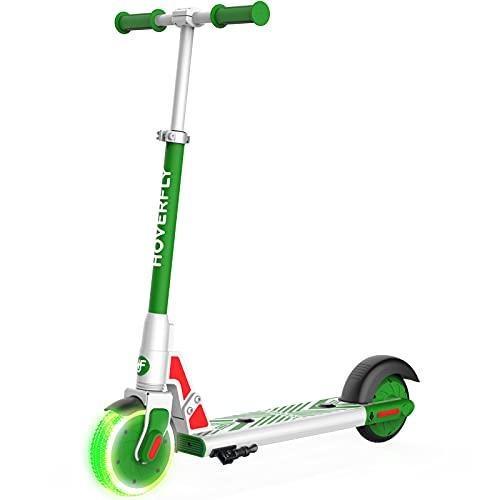Elektro Scooter für Kinder, HOVERFLY GKS LUMIOS 150W Elektroroller für Kinder 6-12, LED Leuchtvorderrad, 6'...