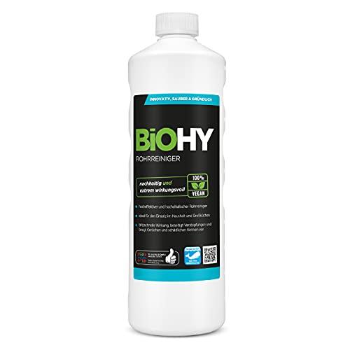 BiOHY Rohrreiniger (1l Flasche) | EXTRA STARK | Flüssiger, hochkonzentrierter Abflussreiniger |...