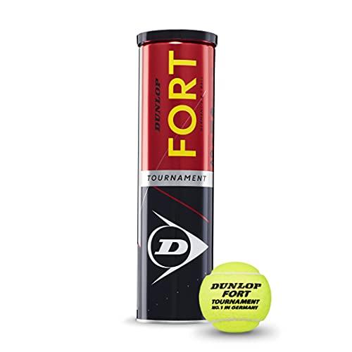 Dunlop Tennisball Fort Tournament - für Sand, Hartplatz und Rasen (1x4er Dose)