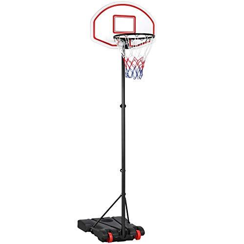 Yaheetech Basketballständer Basketballkorb mit Ständer Korbanlage Höhenverstellbar von 159 bis 214 cm