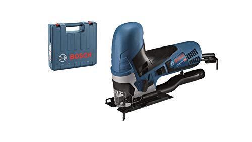 Bosch Professional Stichsäge GST 90 E (650 Watt, 1x Sägeblatt, Absaug-Set, Spanreißschutz, Schnitttiefe in...