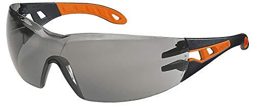 Uvex Pheos Schutzbrille - Supravision Excellence - Getönt/Schwarz-Orange