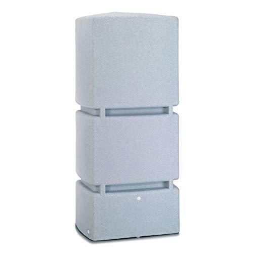 Regentonne eckig Regenwassertank Jumbo 800 Liter granit grau aus UV- und witterungsbeständigem Material....