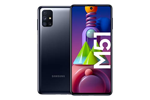 Samsung Galaxy M51 Android Smartphone ohne Vertrag, Quad-Kamera, 6,7 Zoll Infinity-O Super AMOLDED+ Display,...