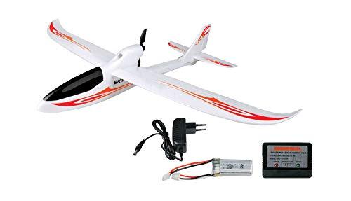 Amewi 24058 Skyrunner V3 Gyro RC Motorflugmodell RTR 750 mm, 1844806,Weiß