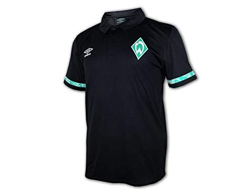 UMBRO Werder Bremen Poly Poloshirt schwarz SVW Polo Jersey Bundesliga Fan Shirt, Größe:L