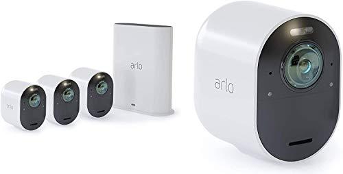Arlo Ultra WLAN Überwachungskameras & Alarmanlage, 4K UHD, 4er Set, Smart Home, kabellos, Innen/Außen,...