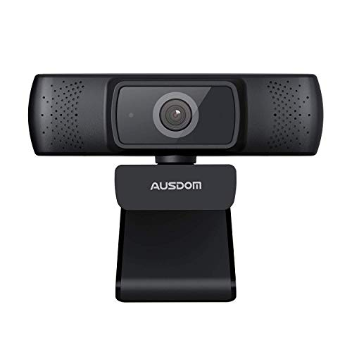 Business Webcam für PC mit Webcam Cover, AUSDOM AF640 Full HD 1080p/30fps Videoanrufe, Autofokus-Webkamera...
