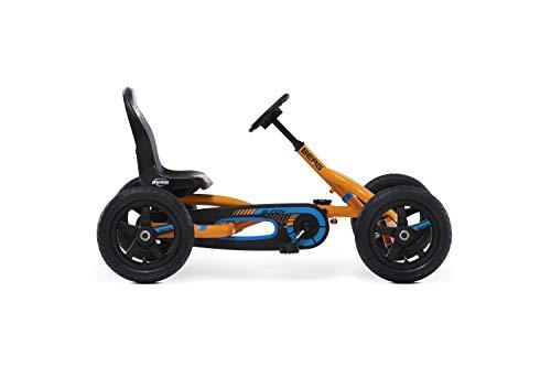 Berg Pedal Gokart Buddy B-Orange | Kinderfahrzeug, Tretauto mit Optimale Sicherheid, Luftreifen und Freilauf,...