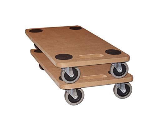 2x Möbelroller Transportroller 250kg Rollbrett MDF Möbel Hund Roller