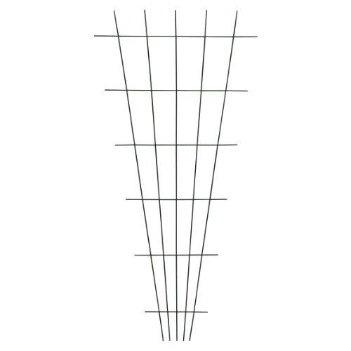 Xclou Gitterspalier V-Form in Grün, wetterfestes Metallspalier kunststoffbeschichtet, Rankgitter gesintert,...