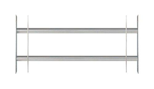 GAH-Alberts 563684 Fenstergitter Secorino Basic | Ausziehbar für Fenster außen | Einbruchschutz Gitter |...