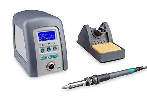Quick 3205 Digital Regelbare ESD Hochfrequenz-Lötstation 150 Watt inkl. Lötkolben mit 5 mm Lötspitze und...