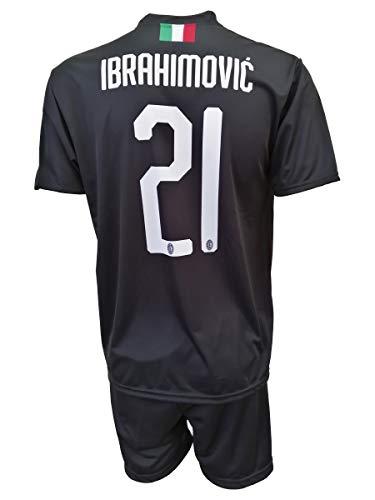 L.C. Sport Trikot, Milan, Zlatan, Ibrahimovic, 21, Replik, zugelassen 2019-2020, für Kinder (Größen 2 4 6 8...
