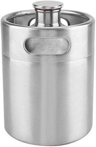 Namvo Mini Keg Style Growler Edelstahl Bier Homebrew Barrel mit Spiraldeckel Tragbarer Bier Craft Barrel für...