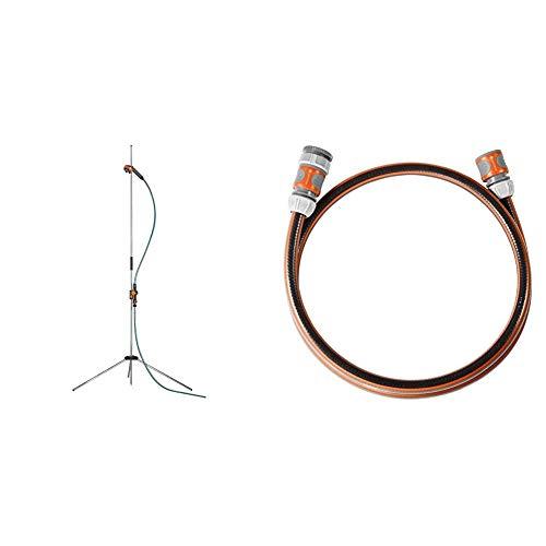 Gardena Gartendusche Trio: Dusche mit 2 Strahlarten & Anschlussgarnitur Comfort Flex 13 mm (1/2 Zoll), 1.5 m:...
