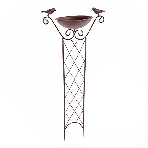 SIDCO Vogeltränke Vogelbad stehend Rankhilfe Rosenbogen Rankgitter Spalier Gartendeko
