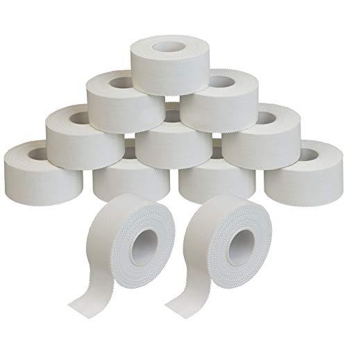 ALPIDEX 12 Rollen Sport Tape Set Fingertape 2,5 cm x 10 m Tapeverband weiß