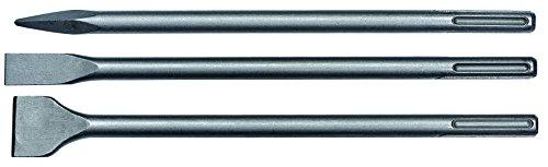 Original Einhell Meisselset 3-teilig (passend für Abbruchhämmer mit SDS-Max Werkzeugaufnahme, 40 cm lang, 1...