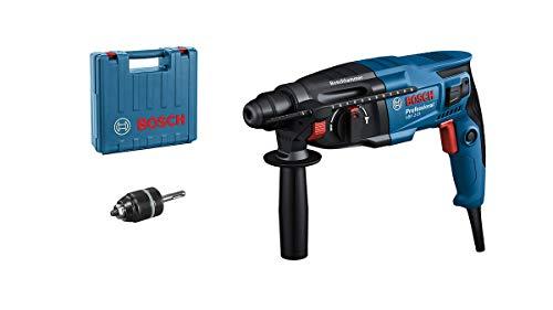 Bosch Professional Bohrhammer GBH 2-21 (mit SDS plus, inkl. Schnellspannbohrfutter, Zusatzhandgriff,...