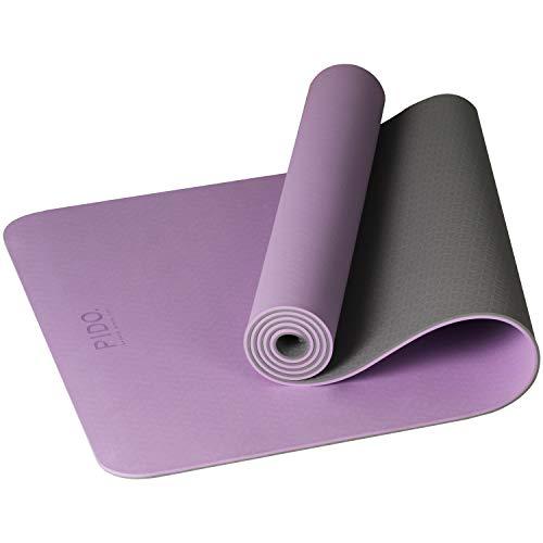 PIDO Yogamatte, leichte Reise-Yogamatte, rutschfeste Fitnessmatte, Pilates- und Gymnastik-Stretching-Matte,...