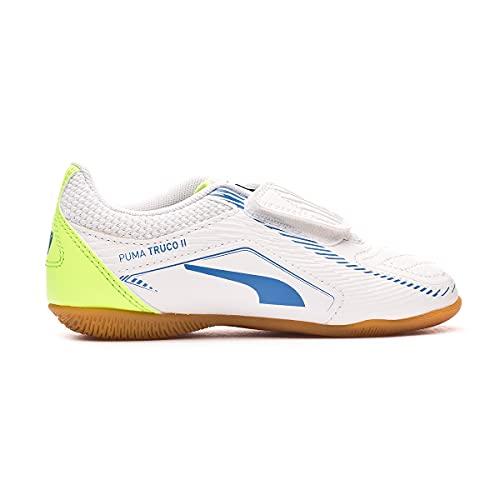 PUMA TRUCO II V Jr Futsalschuhe, Weiß White Bluemazing, 30 EU