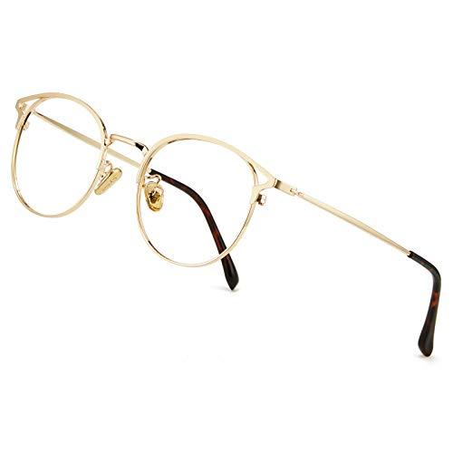 Cyxus Blaulichtfilter Brille Damen mit Katzenauge, Rund Mode Vintage Brille Ohne Stärke, Anti Schädliches...