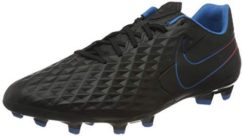 Nike Unisex Tiempo Legend 8 Academy MG Football Shoe, Black/Black-Siren Red-Light Photo Blue-Cyber, 45 EU