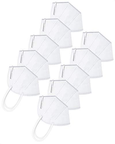 AFAC Maske atmungsaktive mehrschichtige Staubmaske mit weißem elastischem Ohrbügel 10 Stück