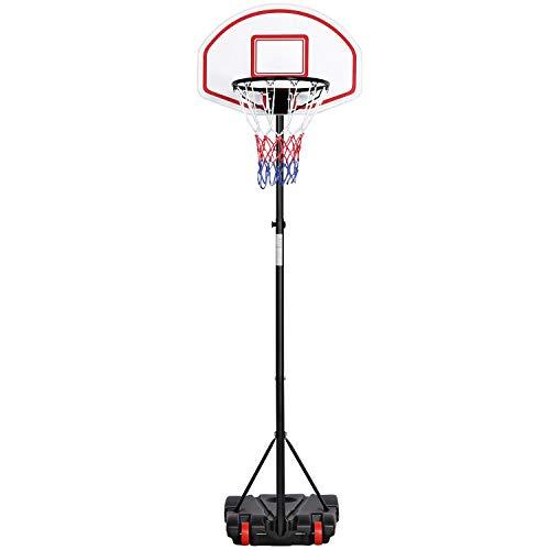 Yaheetech Basketballständer Basketballkorb Outdoor Korbanlage Basketballanlage Höhenverstellbar von 159 bis...