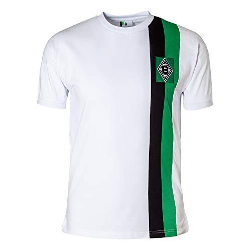 Score Draw Herren Retro - Trikot Borussia Mönchengladbach | Heimtrikot 1972 in Weiß, Größe: XL
