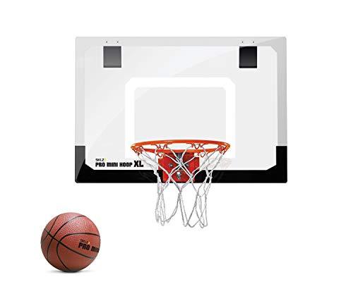 SKLZ Pro Mini Basketballkorb fürs Zimmer mit Ball, Basketball Training, Mini Basketball, Mit Schutzpolster...