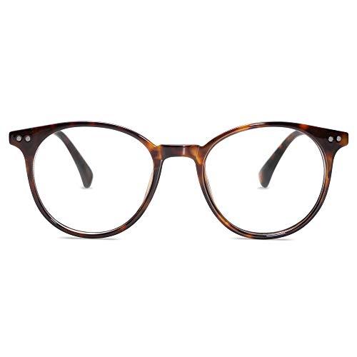 SOJOS Runde Brille mit Blaulichtfilter Blockieren Blaue Licht Brille ohne sehstärke Computerbrille Retro...