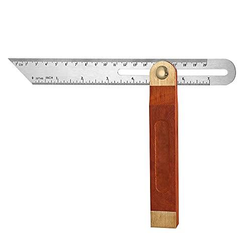 Swetup Winkelmesser, 9 Zoll 230mm Einstellbare T-Schmiege Anschlagwinkel Stellwinkel mit Hartholzgriff Klinge...