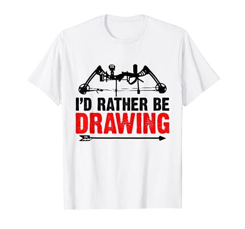Bogen und Pfeil Bogenschießen Sport Bogenschützer Sportbogen T-Shirt