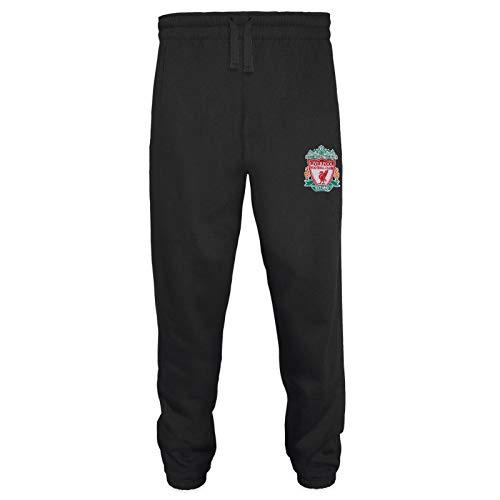 Liverpool FC - Herren Fleece-Jogginghose - Offizielles Merchandise - Geschenk für Fußballfans - Schwarz - XL