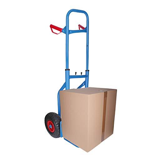 GEORGES Sackkarre Transportkarre | Luftbereifung, Radschutz, klappbar, bis 200Kg belastbar (blau)