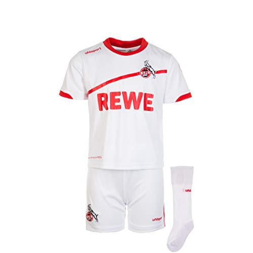 uhlsport Kinder 1. Fc Köln Heim Minikit, weiß/rot, 80/86