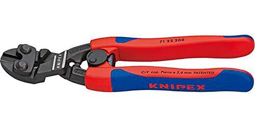 KNIPEX 71 22 200 CoBolt® Kompakt-Bolzenschneider, gewinkelt schwarz atramentiert mit schlanken...