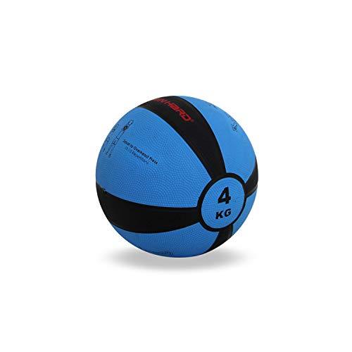 TrainHard Medizinball 1kg bis 12 kg, Gummi Gewichtsball in 10 Farbig, Professionelle Gymnastikball für...