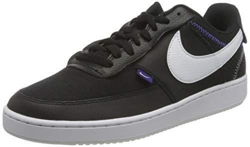 Nike Herren Vision LO Prem Basketball Shoe, Black/White-Photon Dust-Court Purple, 42.5 EU