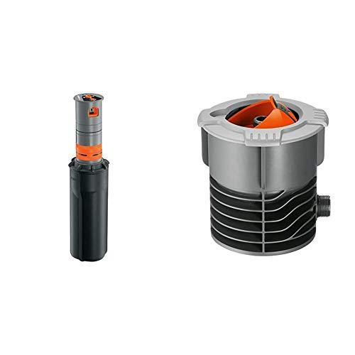 Gardena Sprinklersystem Turbinen Versenkregner T380 & Sprinklersystem Anschlussdose: Systemanfang von Pipeline...