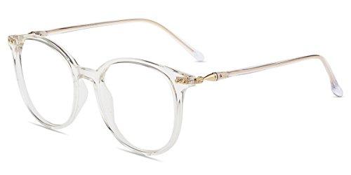 Firmoo Blaulichtfilter Brille für Damen Herren ohne Sehstärke Anti Blaulicht UV Schutzbrille TR...