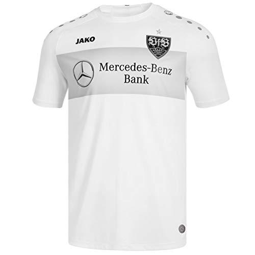 JAKO Erwachsene VfB Stuttgart Teamline T-Shirt, weiß, L