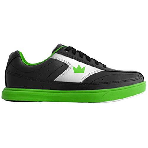 Brunswick Herren Bowling-Schuhe Renegade, M US, Schwarz/Neongrün, 43 EU