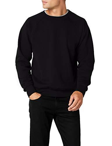 Fruit of the Loom - Sweatshirt 'Raglan Sweat' L,Black