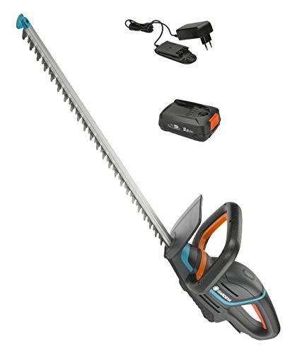 GARDENA Akku-Heckenschere ComfortCut 50/18V-P4A Ready-To-Use Set: Heckenschneider mit ergonomischem Griff und...