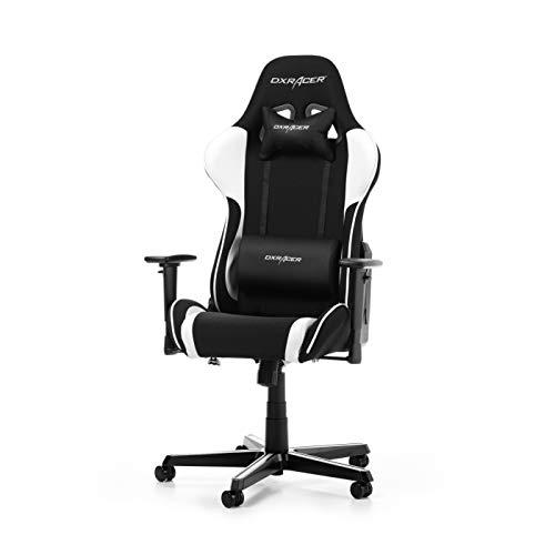 DXRacer Formula Series F11-NW Gaming Stuhl aus Stoffbezug, Schwarz-Weiß