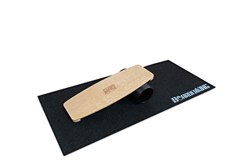 BoarderKING Indoorboard Limited Edition Skateboard Surfboard Trickboard Balanceboard Balance Board (Raw Wood,...
